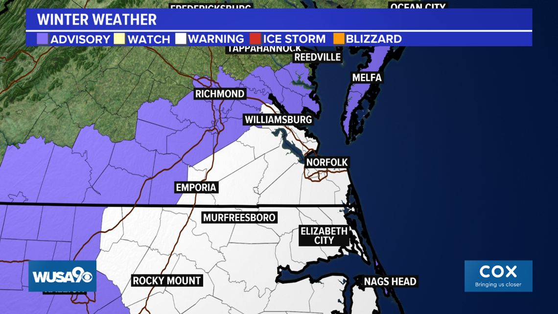 A few flakes south and west of the DMV tonight