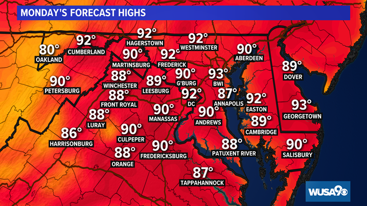 Hot, humid again Monday with some storms