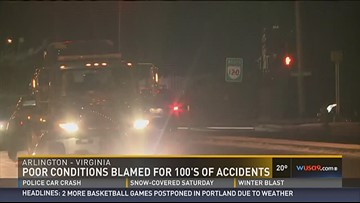 Treacherous road conditions lead to hundreds of accidents in