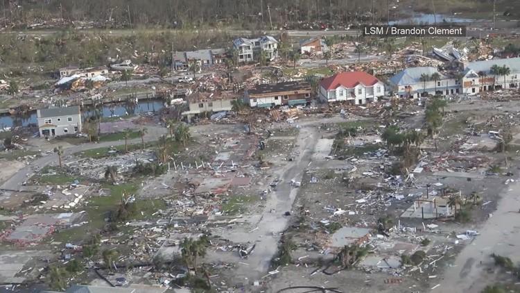 Aerial Video Hurricane Michael Devastation In Mexico Beach Florida
