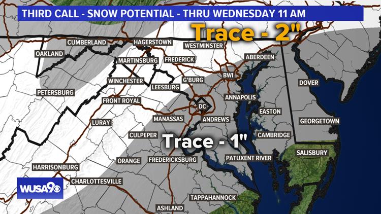 Snowfall potential