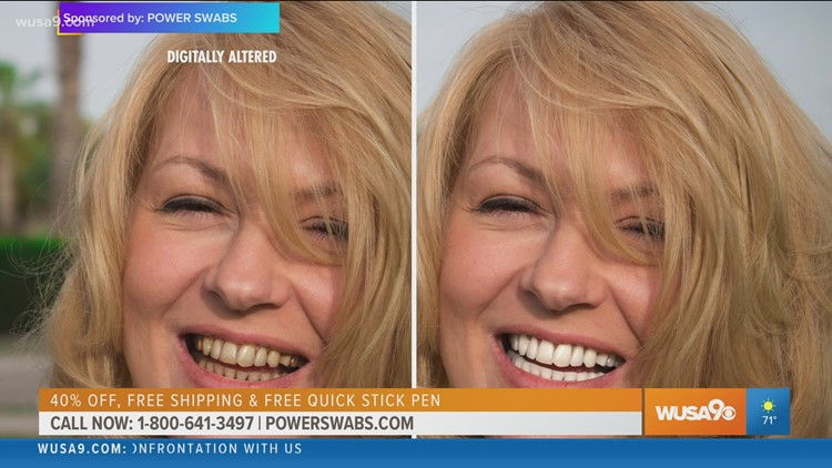 Power Swabs whitens teeth up to seven shades
