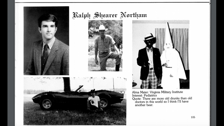 Ralph Northam Yearbook Page