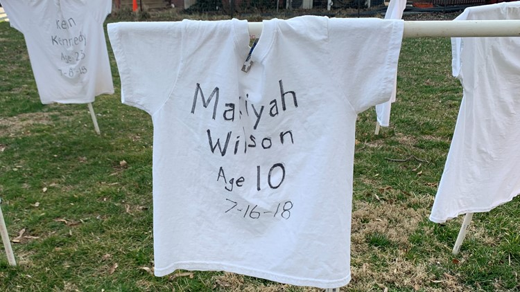 T-shirts placed outside of a Maryland church