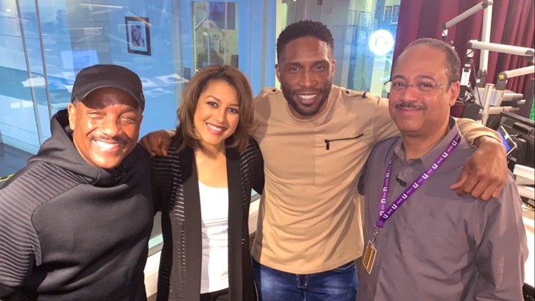 Donnie Simpson, Lesli Foster, Ric Chill and Tony Perkins