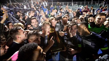 Georgetown men's soccer wins national championship game against Virginia in thrilling overtime fashion