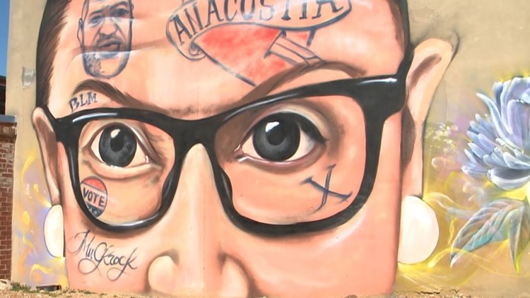 Mural of tattooed RBG causes controversy in Anacostia