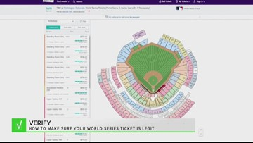 VERIFY: How to make sure your World Series ticket is legit