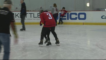 Washington Caps host skating party for kids from Tragedy Assistance Program for Survivors