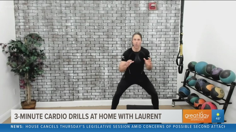 A 3-minute workout to get your day started with fitness dynamo Laurent