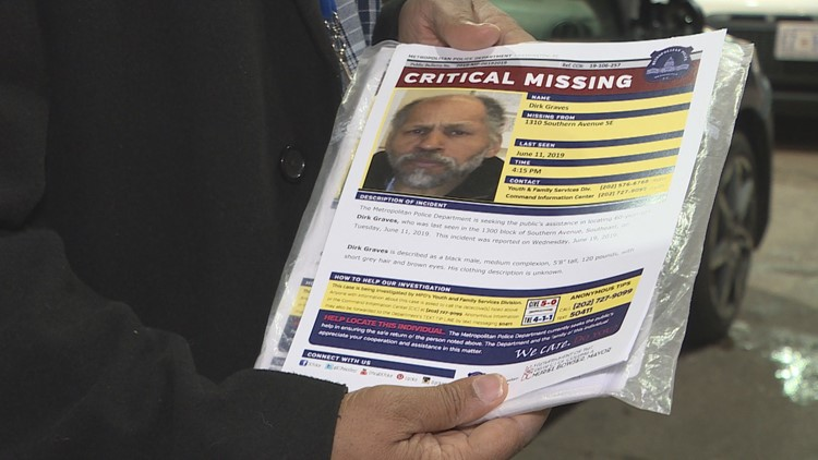Dirk Graves missing flier