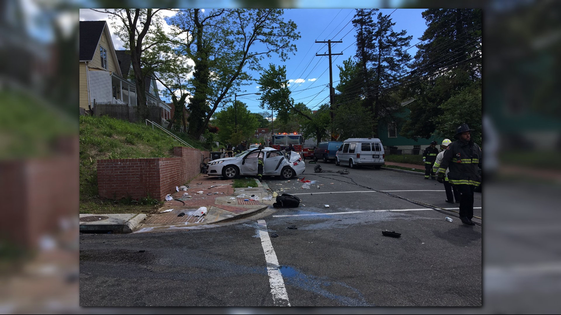 Six injured in Easter Sunday crash in DC