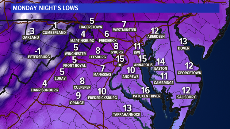 The deep freeze continues: temps drop in the 0s, 10s tonight