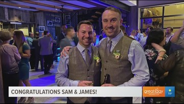 Congrats Sam & James!