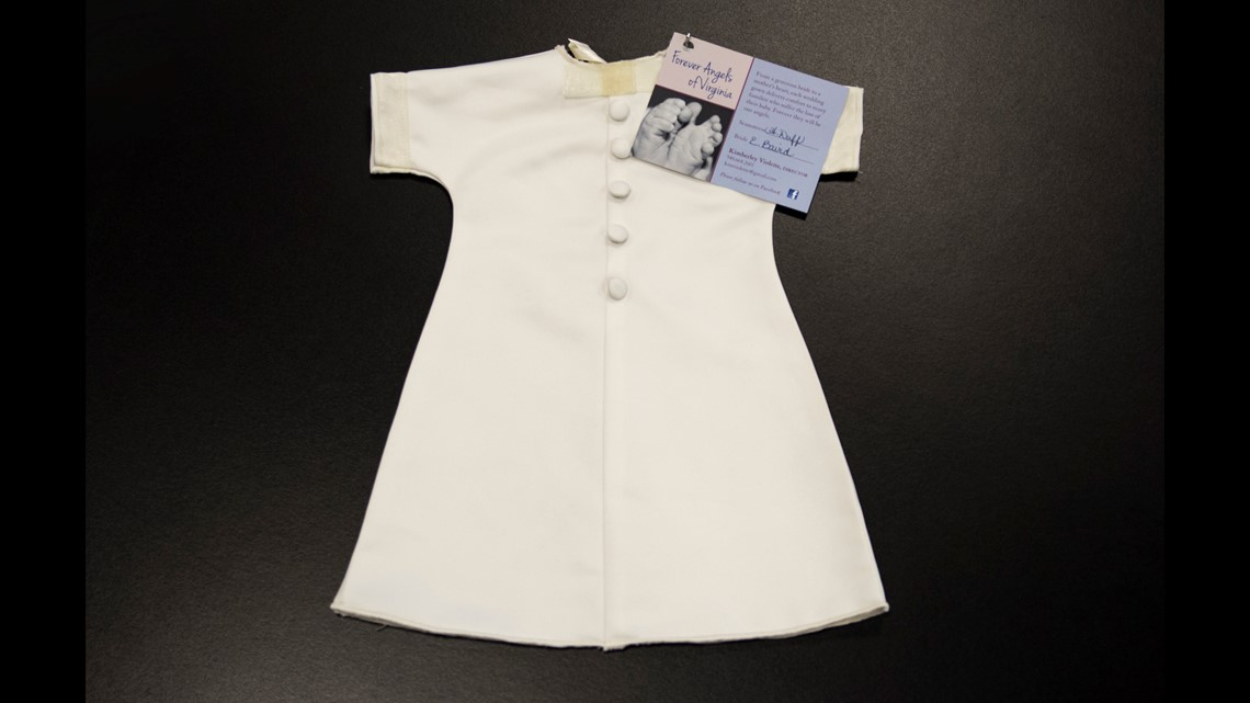 A love story: Wedding dresses turned into infant burial gowns ...