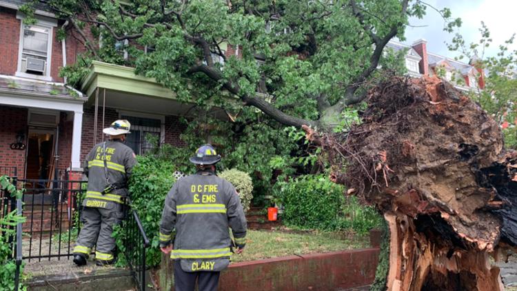 Fallen trees, flooded roads & a gas fire | Severe thunderstorm hits DMV