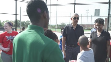 Little kids freak out when Barack Obama crashes their practice