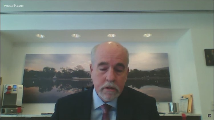 Former Senate sergeant-at-arms Michael Stenger testifies at the Capitol riot hearings