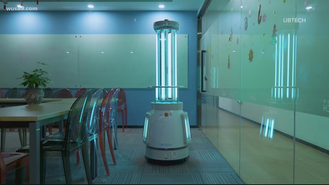Manassas City schools add cleaning robots to staff to keep COVID out of classrooms