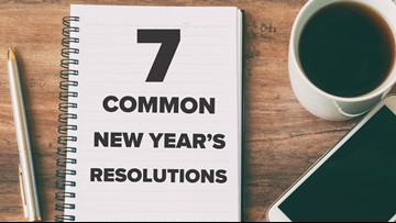 Seven common New Year's resolutions