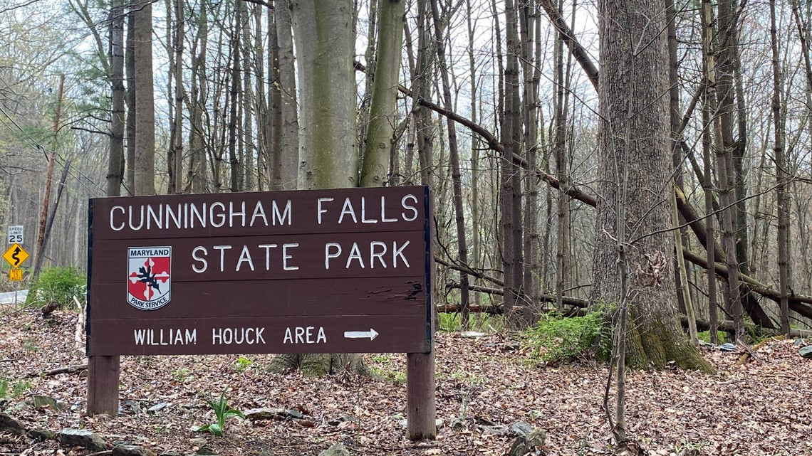 Visit Maryland's largest cascading waterfall in Cunningham Falls State Park