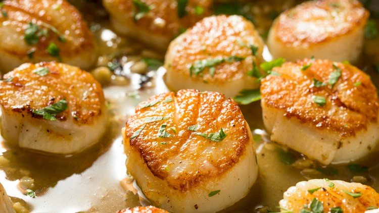 Panned Scallops in Broth
