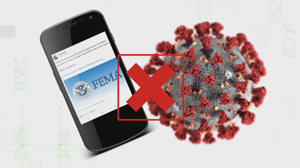 VERIFY: Are viral posts offering $1,000 coronavirus relief legit? Here's what you need to know to avoid scammers