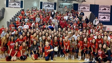 Woodson High School shows off school spirit with Nats themed pep rally