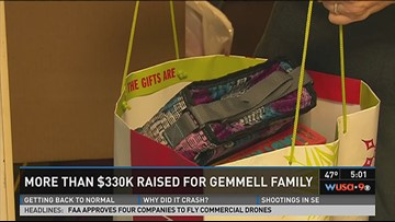 More than $330K raised for Gemmell family