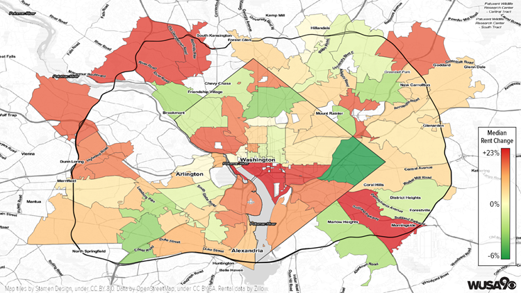 Beltway Median Rent Map
