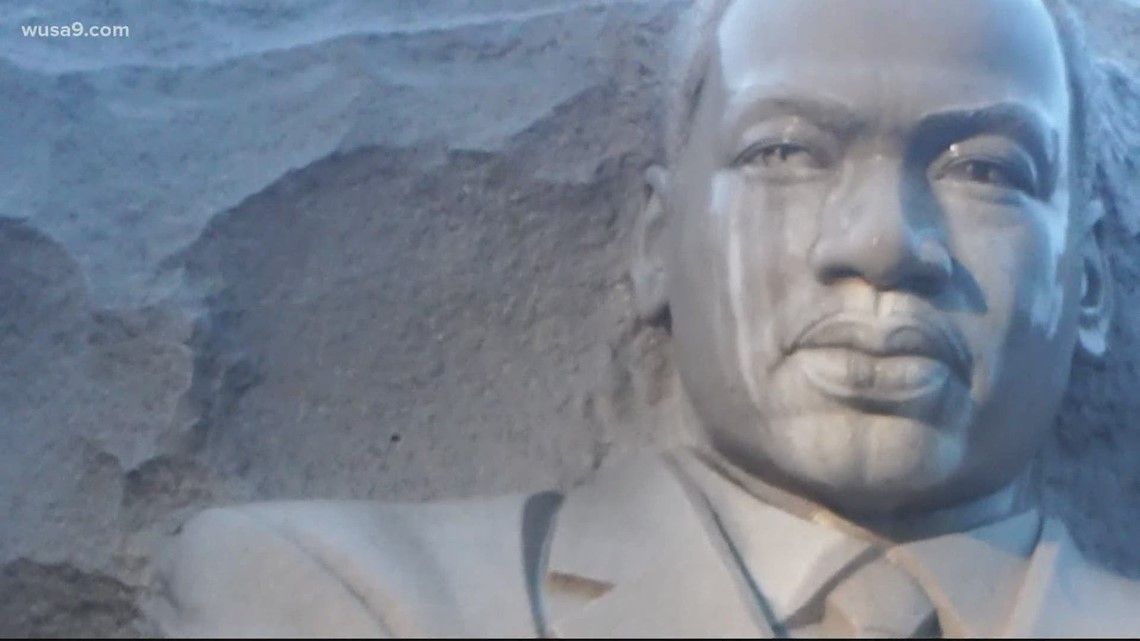 DC protesters draw power for change through the MLK Memorial at National Mall
