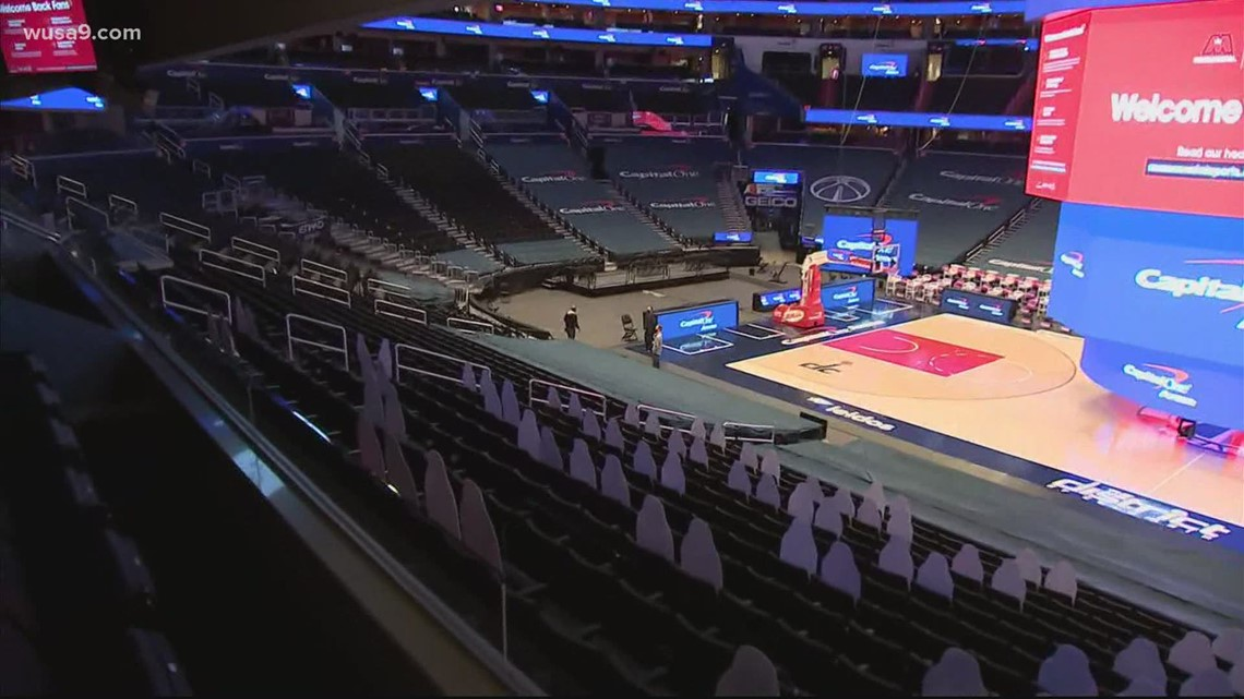 Fans return to Capitol One Arena for Wizards vs Warriors