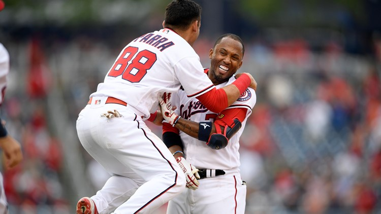 Nationals finish disturbing weekend with 8-7 win over Padres