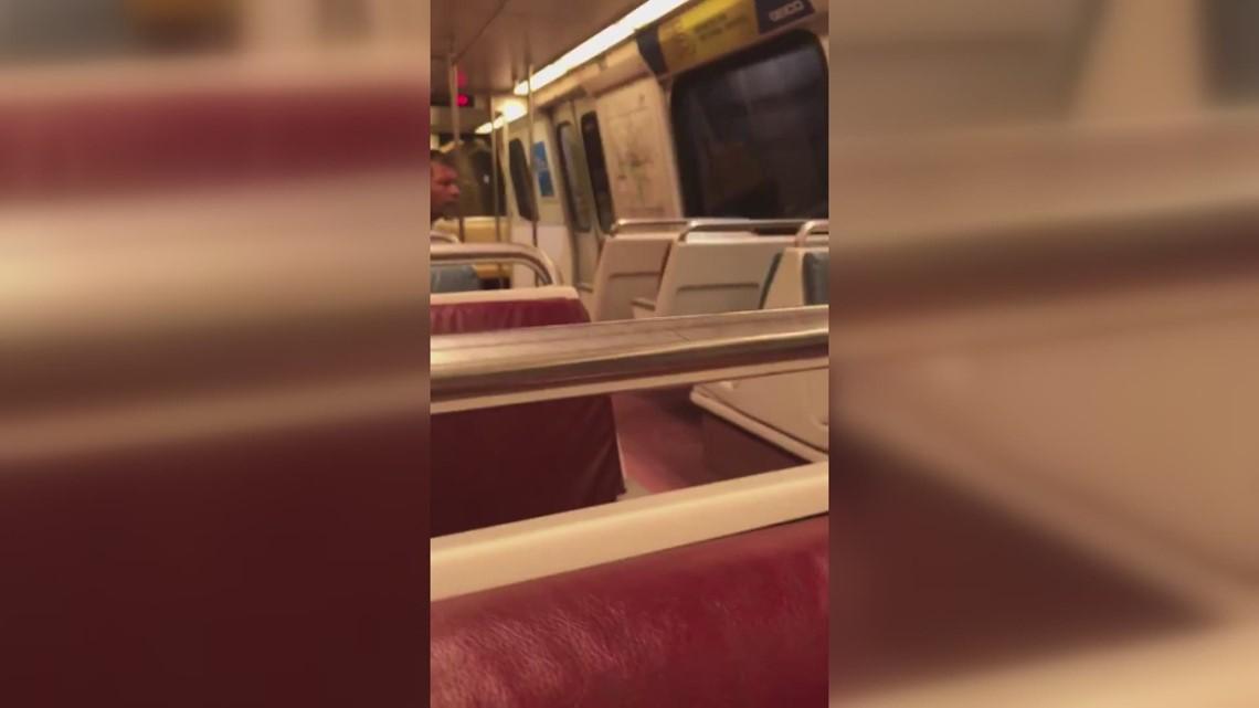 RAW VIDEO: Man aboard Metro train harasses and threatens elderly couple