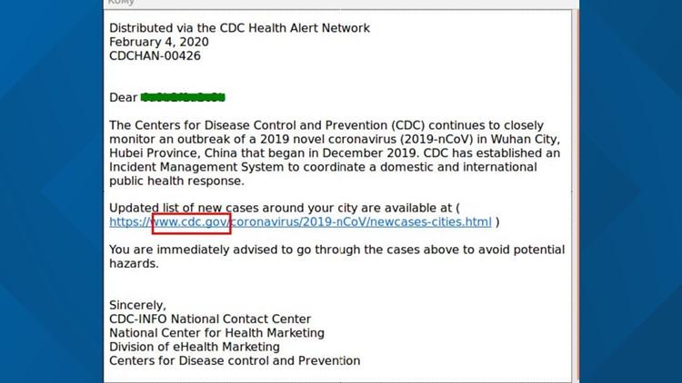 CDC covid-19 scam