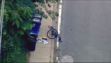 Traffic backed up after bicyclist hit in Bethesda