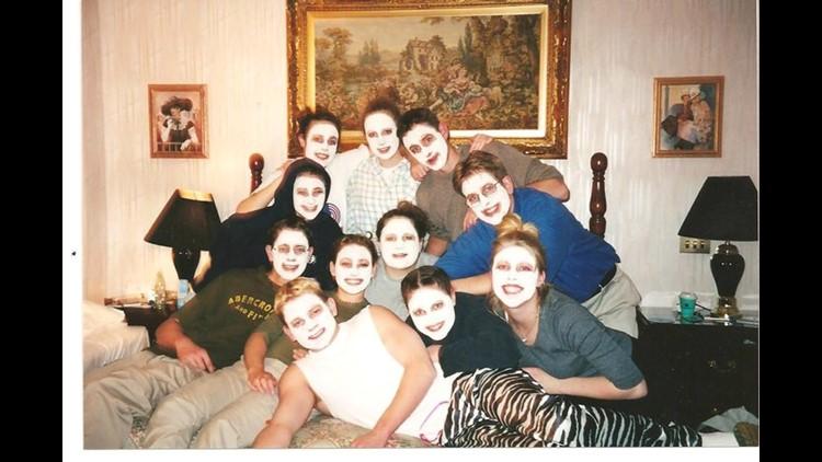Salli Garrigan with friends in high school