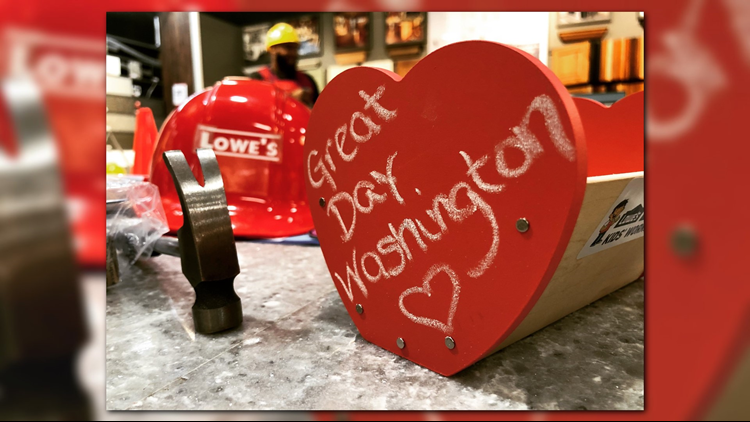 Lowe's Pros showed Great Day Washington how to build this love note holder.