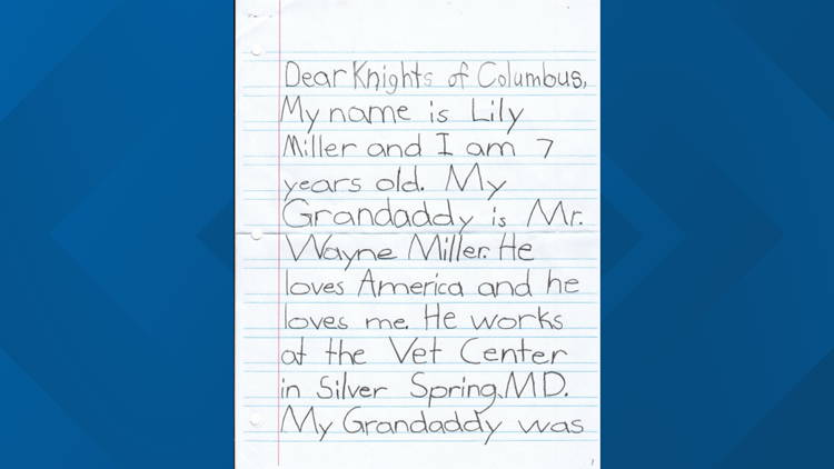 Lily Miller letter