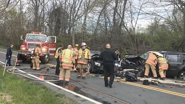 4 adults, 2 children injured in head-on crash in Clarksburg