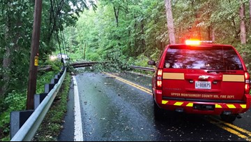 Thousands still without power after severe storms fell trees and power lines across DMV