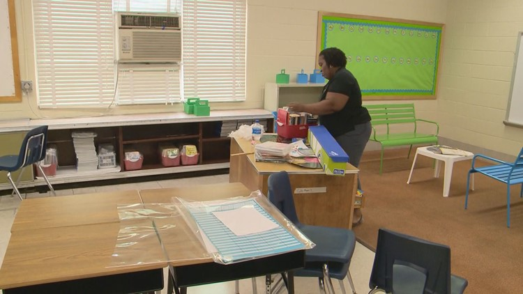 Glassmanor Elementary, Ms. Carter in her classroom