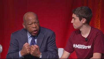 Rep. John Lewis talks to DC students about activism