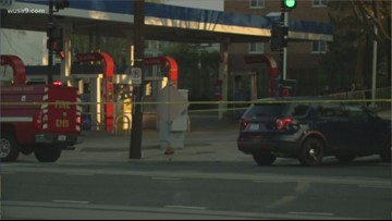 Woman dies after fire at DC gas station