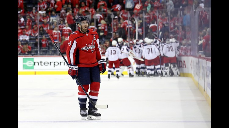 Sergei Bobrovsky made 54 saves, Matt Calvert scored the winner 12:22 into overtime and the Columbus Blue Jackets overcame two goals from Alex Ovechkin beat the Washington Capitals 5-4 in Game 2 on Sunday night to take a 2-0 lead in their first-round playoff series.