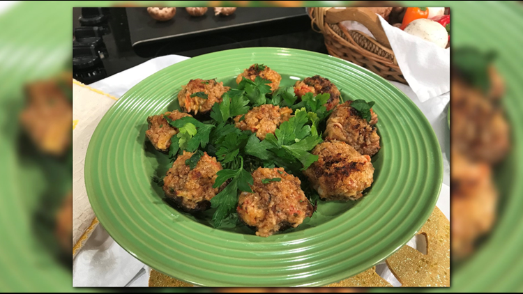 Amy Riolo, an award-winning, best-selling author and chef, shares her favorite recipe for Crab-Filled Mushrooms featured in her book Quick Diabetic Recipes For Dummies.
