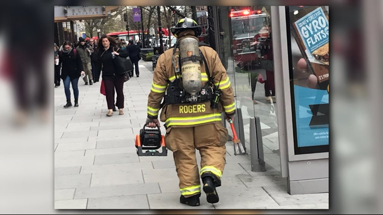 The Red line was single tracking between Farragut North and Judiciary Square due to fire on the tracks at the Farragut North Metro station, officials said.