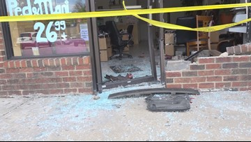 CAUGHT ON CAM: Woman drives into nail salon, crowd in Md.