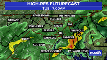 TIMELINE: Heavy rain threat ends but showers continue Tuesday morning