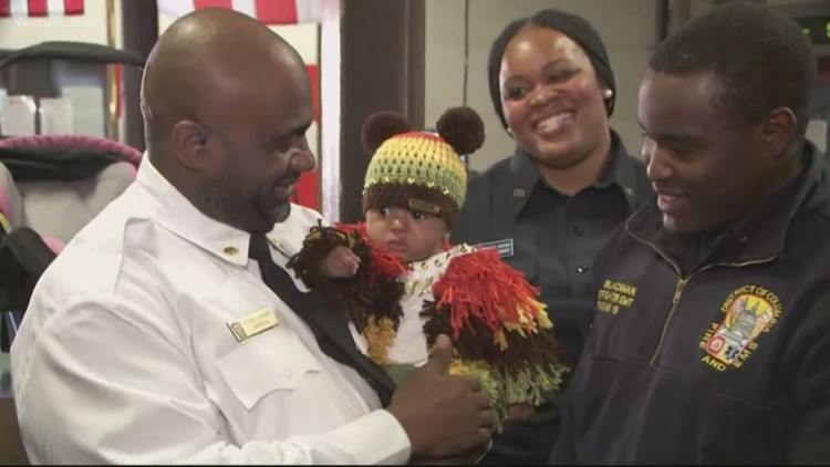 Baby girl born without a pulse reunites with DC officials who saved her life